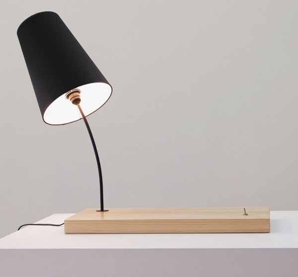 26 best paper lighting research images on pinterest good ideas black lampshade with wooden base popular product designer from portuguese gonalo campos show us his great lampshade design it was designed with black greentooth Images