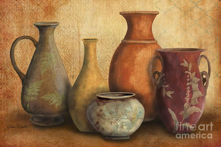 Original Painting Painting - Still Life-c by Jean Plout