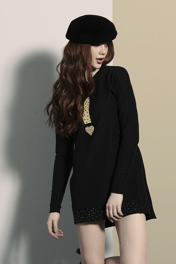 PEPITA EASYWEAR F/W 2014-15: Miniabito con dettagli strass  #pepita #easywear #fallwinter #fashion #stylish #wearwhatyouare #dress