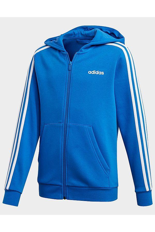 adidas Performance Essentials 3 Stripes Hoodie Blue Kids