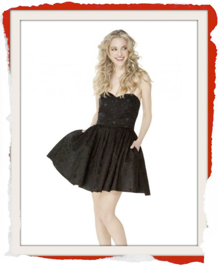 Classic Betsey Johnson cotton eyelet formal dress with sweetheart neckline and side pockets $200 info@fashionjazz.com.au