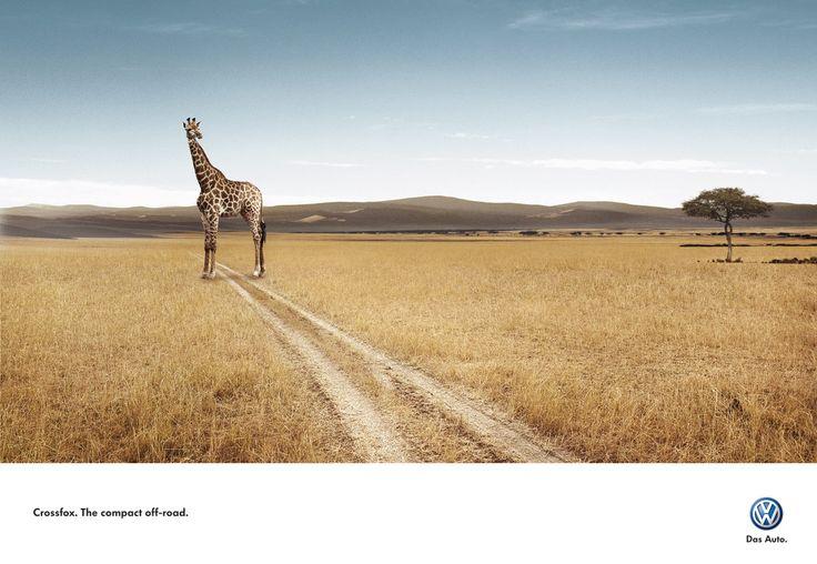 Print ad: Volkswagen: VW Crossfox: Giraffe