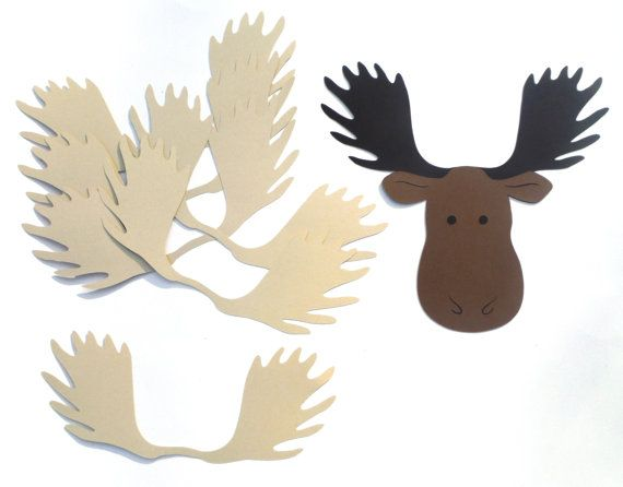 Pin The Antlers On The Moose  Woodland Camping by ScrapsToRemember                                                                                                                                                                                 More