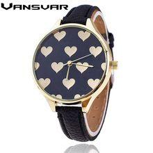 Vansvar 2016 Nueva Moda Del Amor Del Corazón de Cuarzo Reloj de Las Mujeres Ocasionales de Pulsera Relojes Reloj Mujer Relogio Feminino Reloj 1759(China (Mainland))