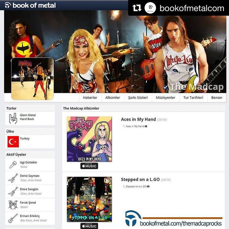 #Repost @bookofmetalcom  @themadcaprocks The Madcap Welcome to Book of Metal http://ift.tt/2mrDEea #GlamMetal #HardRock #TurkishMetalBands #BookofMetal #MetalHeads #HeadBangers #Turkey #Ankara #MetalMusic #TheMadcap #TheMadcapRocks #MetalBands #MetalBandsAlbums #Follow #Dark #Glam #MetalFans #Rock #MetalRock #RockSongs #RockMusic #TurkishRock #Madcap #TheMadcap