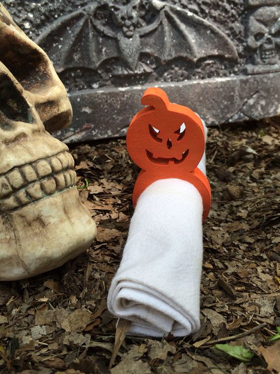 Halloween Jack 'O Lantern Napkin Rings by DustWitchCreations