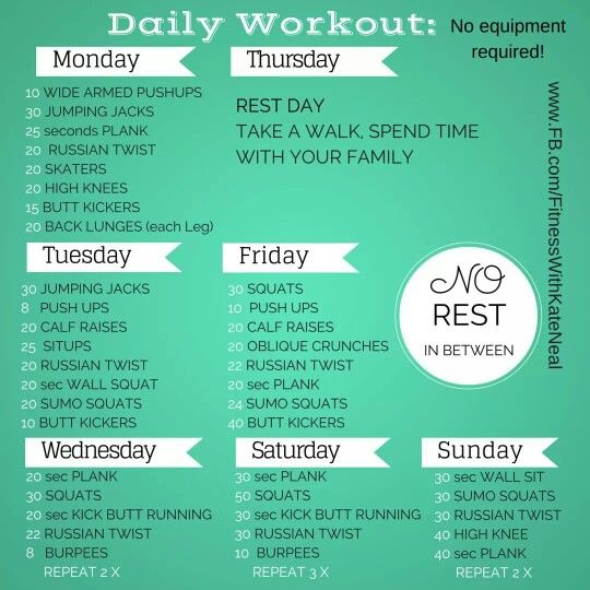 Exercise Workout Plan: Best 25+ Daily Workout Challenge Ideas On Pinterest