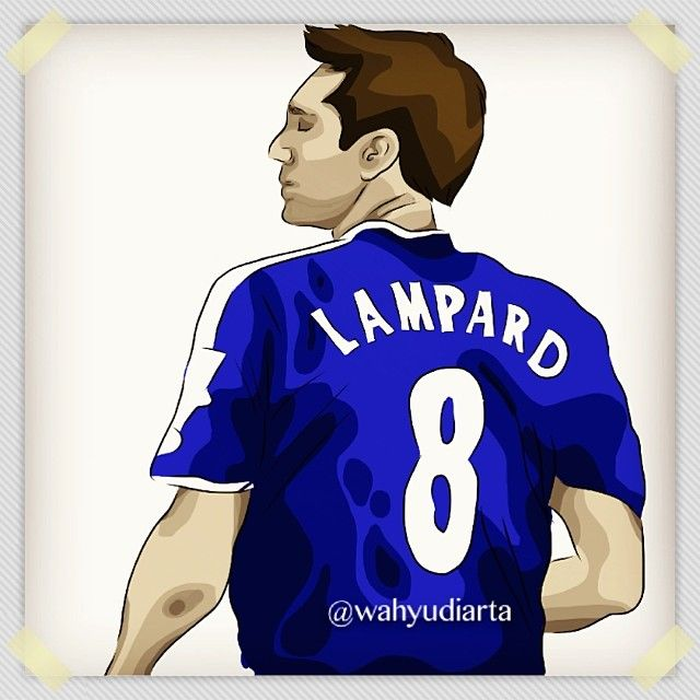"""My favorite footbal player all the time FRANK LAMPARD"" #franklampard #lampard #adobeideas #vectorart #art #artwork #artworkoftheday #draw #drawing @chelseafc #wahyudiarta"