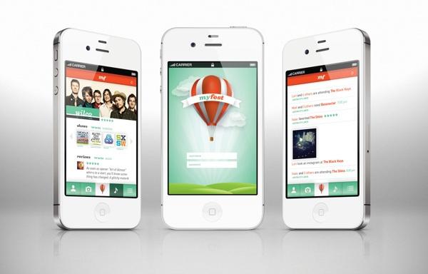 MyFest: iPhone Application by Drue Davis, via Behance