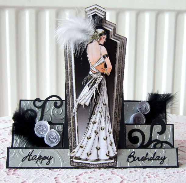 centre stepper card from a template added embossed sliver mirror card ...