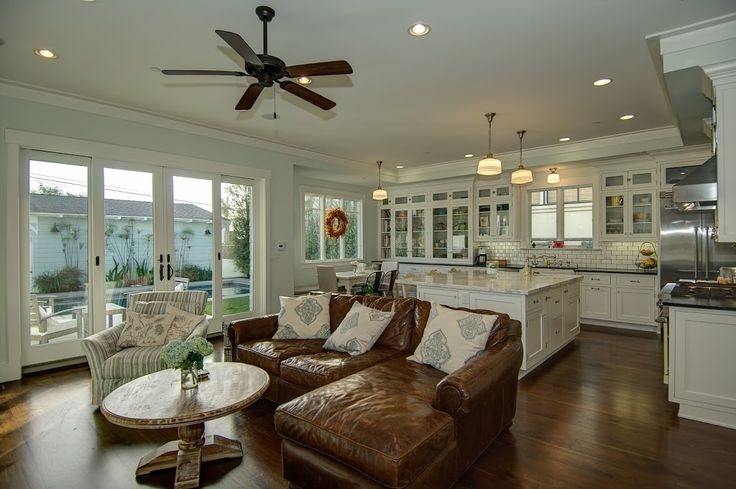 Oh, you said you wanted an open floor plan?  One that the kitchen and family room let out to the outdoors?