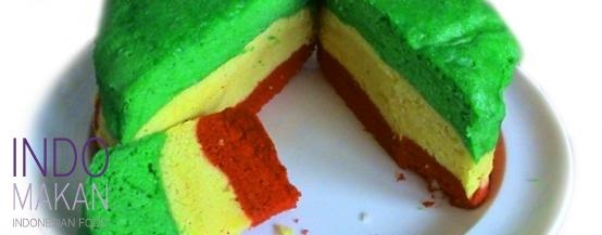 Apam Indon - Steamed cake in 3 colors