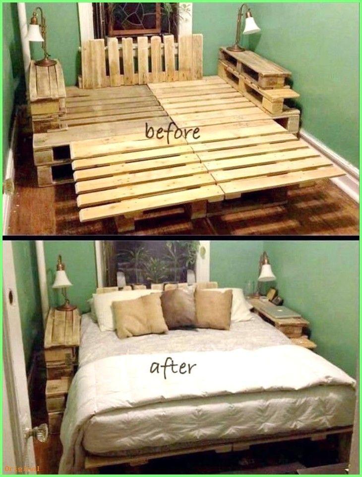 Pin By Johnna Logan On Apartment Ideas In 2020 Pallet Bed Frame Diy Diy Pallet Bed Bedroom Diy