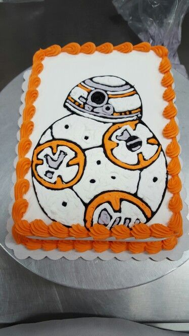 BB8 cake look up my page lilsweets on Facebook