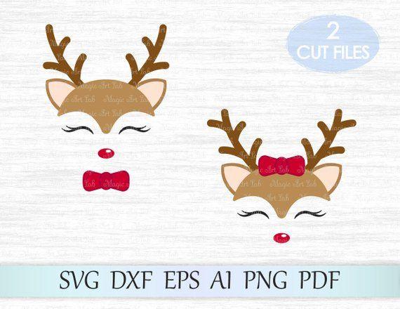 Reindeer Svg Deer Svg Christmas Svg Xmas Rudolf Boy And Etsy Christmas Svg Cricut Svg