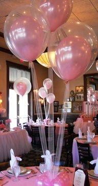Decoração Balões Basta colocar um balão colorido dentro de um balão transparente e depois enchê-los.