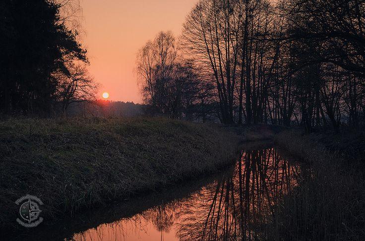 Mała Gunica i zachód słońca