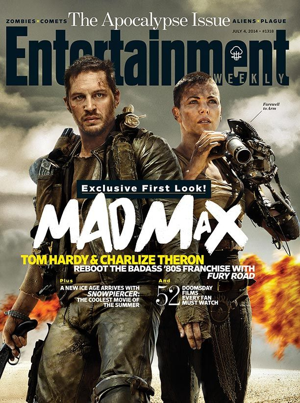 This Week's Cover: First look at 'Mad Max: Fury Road' with Charlize Theron and Tom Hardy: http://popwatch.ew.com/2014/06/25/mad-max-fury-road-tom-hardy-charlize-theron-cover/