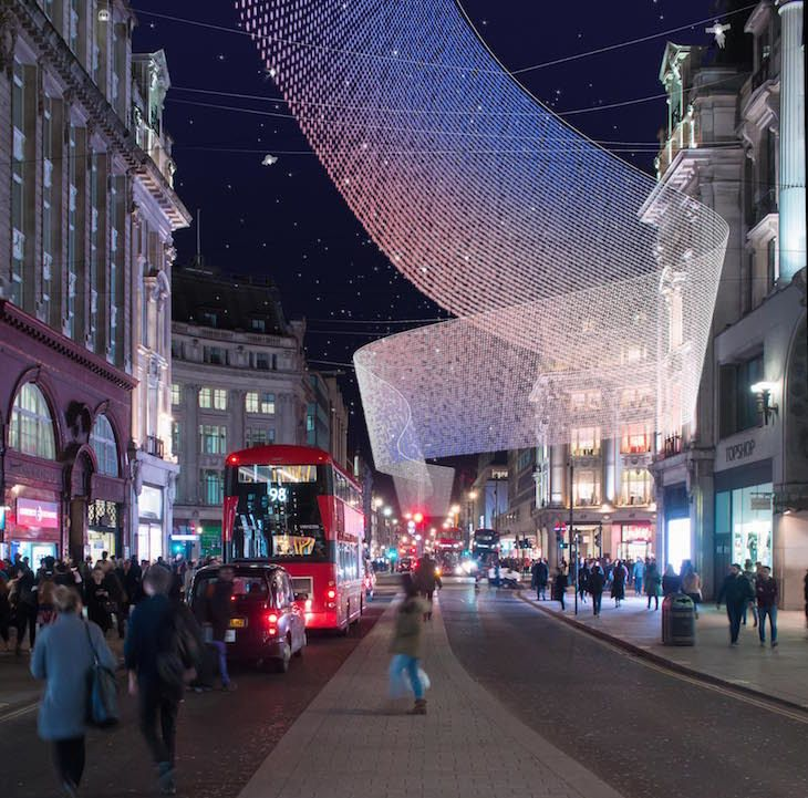 One Of The Designs For The New Oxford Street Christmas Lights By 3dreid New Oxford Street Christmas L London Christmas New Christmas Lights Christmas Lights