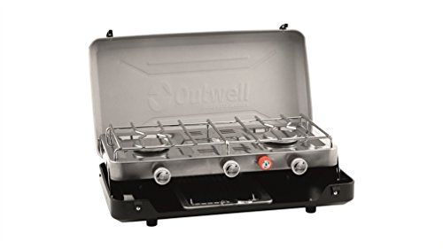 Outwell Gourmet Cooker 3 Burner Camping Stove with Grill/Toaster | Caravan