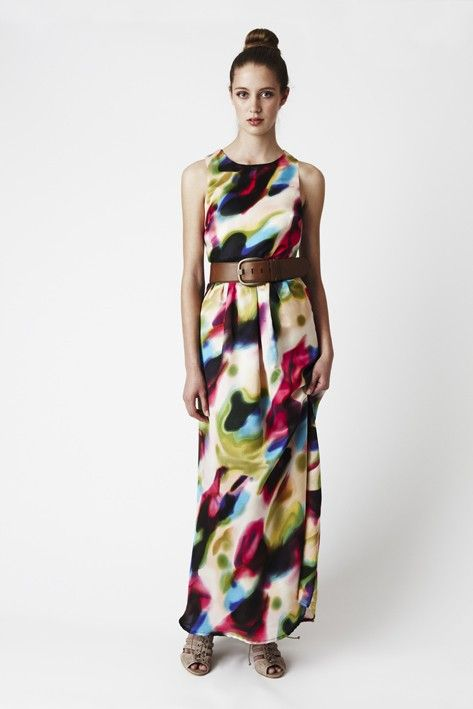8684bd6c661 Multi Maxi Dress - Graphic Multi-Colored full length maxi gown amo este  vestido desde hace meses.