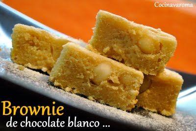 Brownie de chocolate blanco