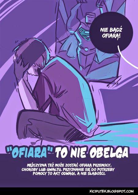 """Kącik Kiciputka - """"Ofiara"""" to nie obelga Mężczyzna też człowiek!  www.kiciputek.blogspot.com"""