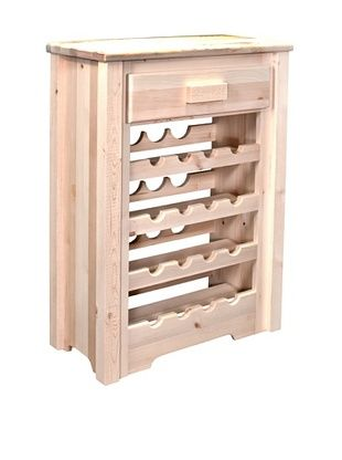 50% OFF Montana Woodworks Homestead Collection Wine Cabinet (Clear Lacquer)