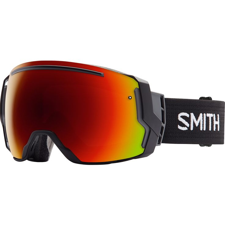 Masque de ski Smith I/O 7 Black Red Sol X Mirror + Blue Sensor Mirror 2017