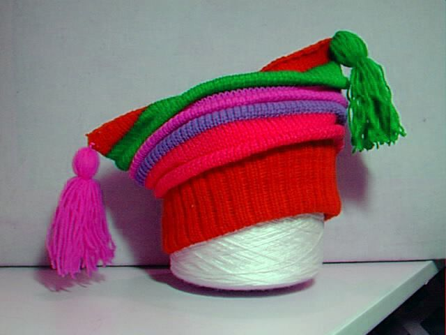 colourful childs hat pattern, not expensive