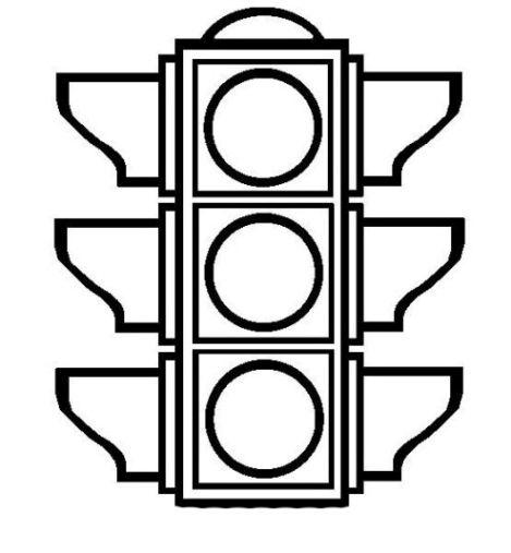 Ausmalbilder Ampel kostenlos 1