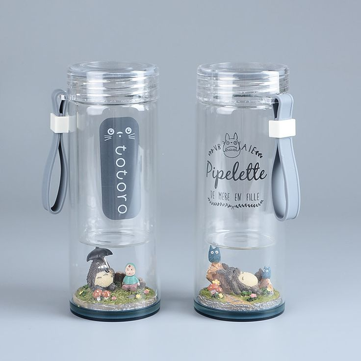 Studio Ghibli Anime TOTORO Mei Micro Landscape Figure Portable Glass Water Bottle 220ML Creative Doreamon 260ML Water Cup -in Action & Toy Figures from Toys & Hobbies on Aliexpress.com | Alibaba Group