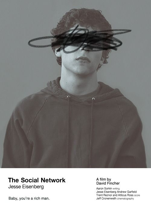 skirtingtheblackhole: Movie Poster of the Day The Social Network, design by Tori H. More