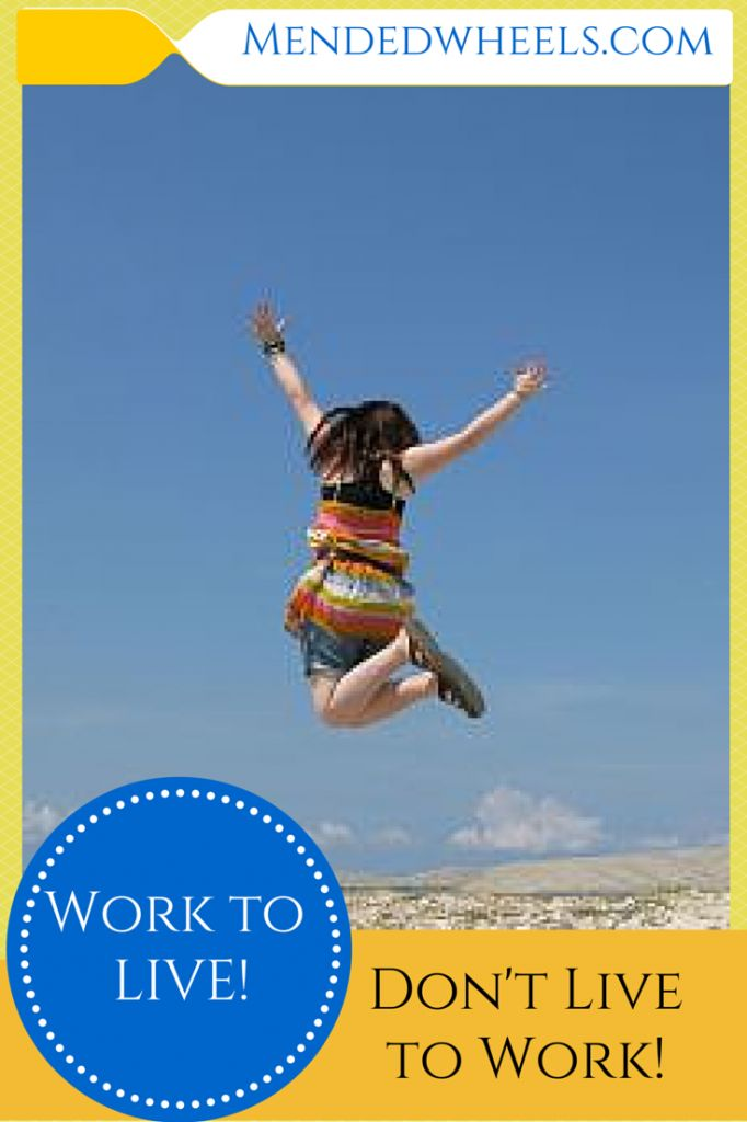 It's so important to have a good balance between working and living life!