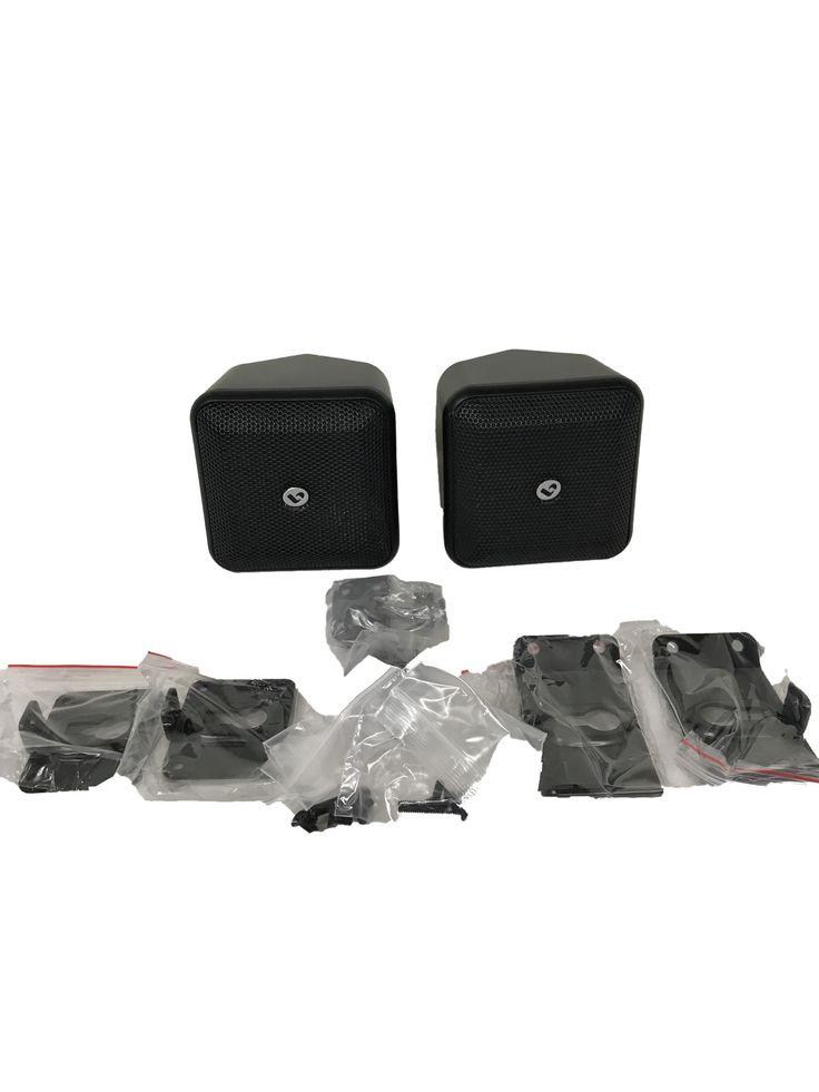 SoundWare XS Satellite Speaker- Pair (Black)