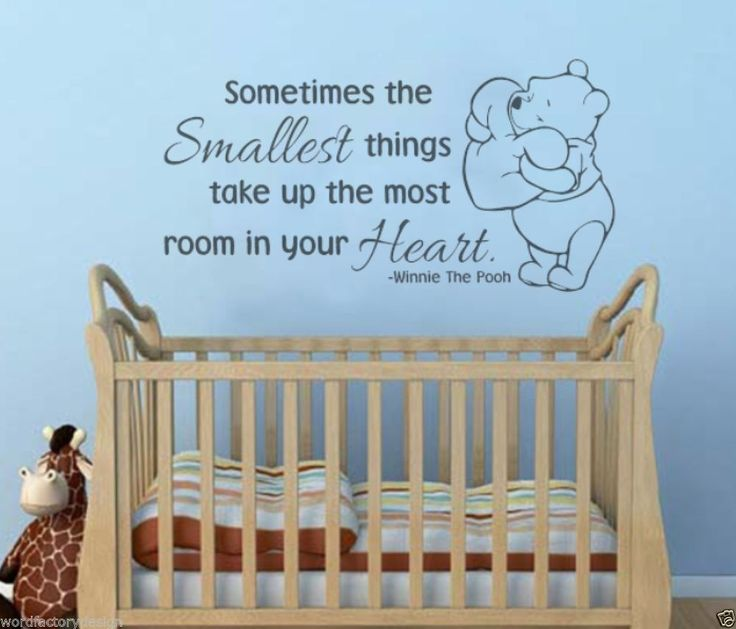 Aweeeee Cutest Winnie The Pooh Quote Nursery Wall Decal Sticker. Sometimes  The Smallest Things Take Part 75