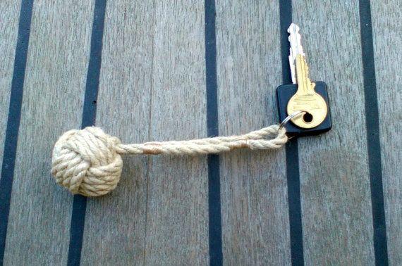 Nautical Rope Key ring Monkey's Fist  Knot https://www.etsy.com/listing/211506205/small-monkeys-fist-rope-keyring