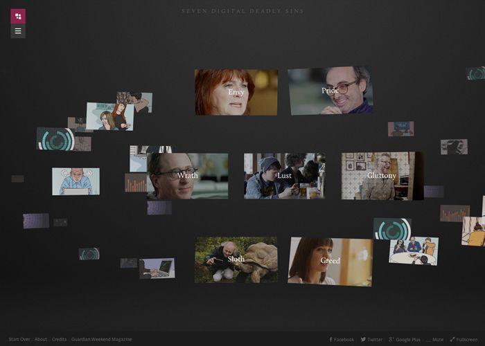 Seven Digital Deadly Sins by Jam3. 30 June, 2014. #webdesign #inspiration #UI #SOTD