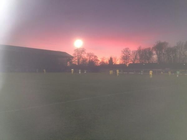 The Walks this afternoon.  King's Lynn Town FC. #kltfc #Sunset cheers to Nantwich Town fan for the picture.