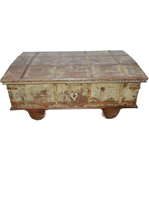 Antique Coffee Table Hand Carved Indian Furniture #table #handcarved #rustic #imorted #indianfurniture #storage