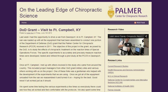 This is a blog set up for the Rugby Football Club at Palmer College of Chiropractic.    You can check out Palmer College of Chiropractic blogs here - http://blogs.palmer.edu/