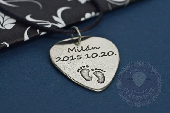 Personalized footprint necklace New born baby gift for New