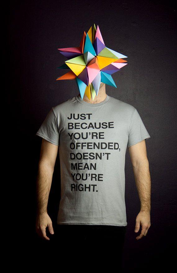 T-shirt Citation Helvetica Just because Homme par MoustacheMoutarde