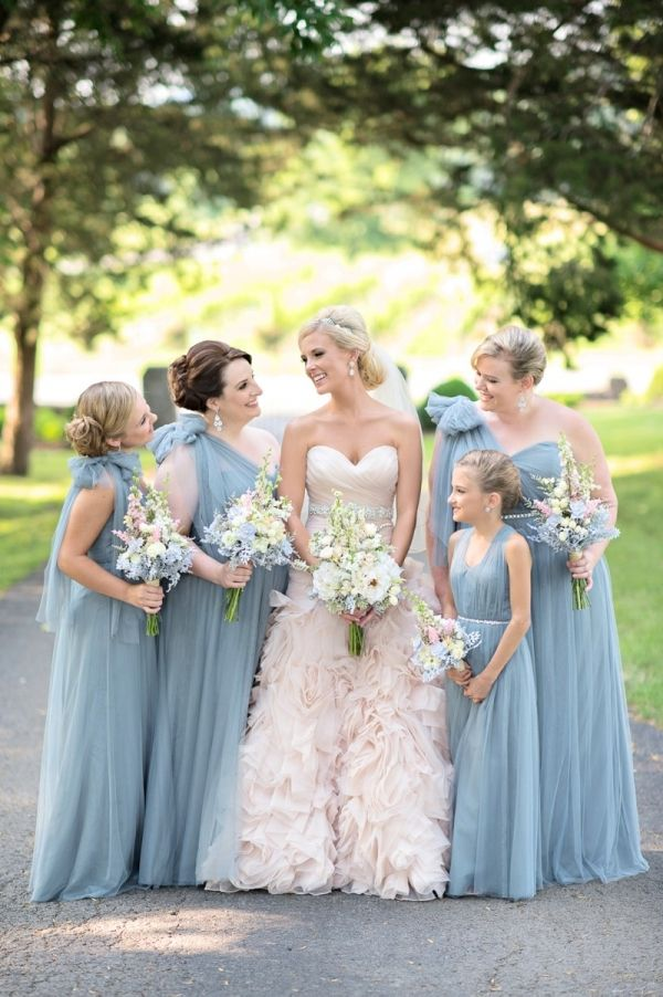 Romantic blush blue nashville wedding ruffled wedding for Wedding dresses in nashville