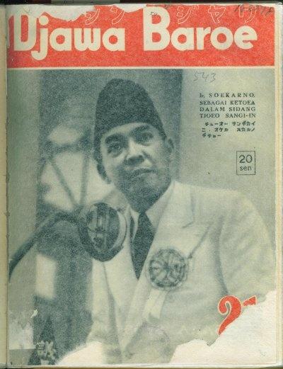 Soekarno in Djawa Baroe (National Library collection).