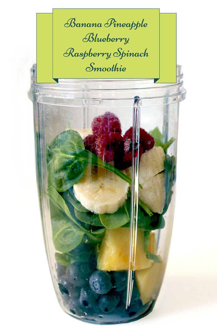 http://ninjablenderrecipes.blogspot.com/ This is a fantastic option for anyone looking for a healthy, low fat smoothie to add to their diet.  Ingredients 2 cups spinach, fresh 3⁄4 cup water 3⁄4 cup orange juice 1 cup strawberries 1 cup blueberries 2 bananas  Blend 30-45 seconds and service. Suggested to used a Professional Grade Blender.