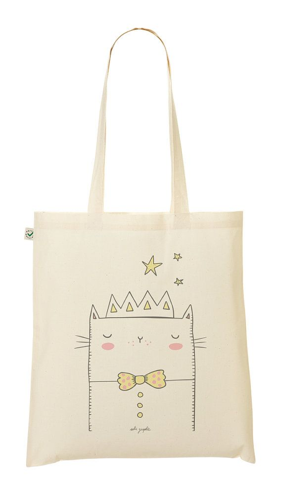 Tote Bag Princess cat by Sobigraphie on Etsy