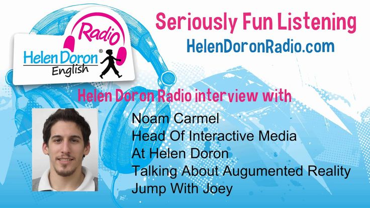Interview with Noam Carmel - Head of Interactive Media Noam enthusiastically discusses and demonstrates the augmented reality technology magic integrated in Helen Doron English's newest programme, Jump with Joey, for English students ages 6-9. Seriously fun learning!  helendoronradio.com