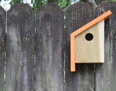 Mid Century Modern Bird House Midcentury Home Wooden by mykokoon