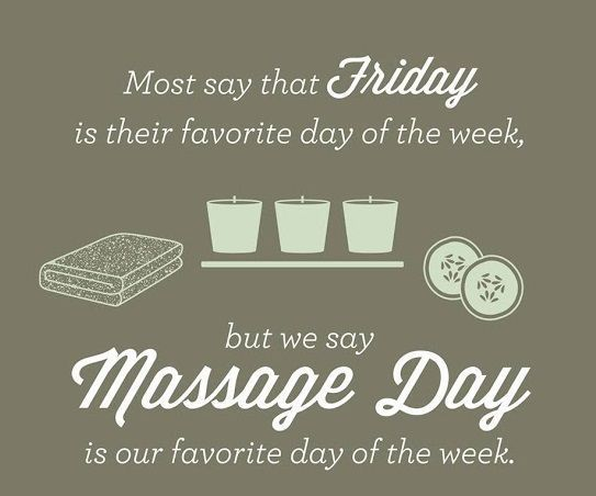 We can't make it Friday, but we can make it Massage Day!  www.MassageProfessionalsJH.com